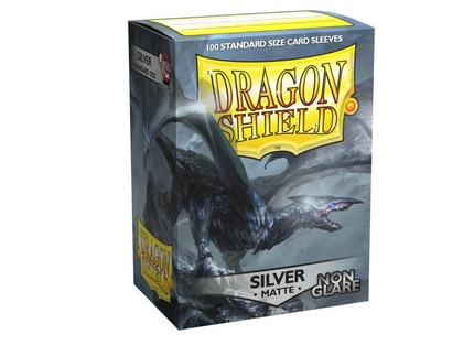 Dragon Shield - Non-Glare Matte Silver (100ks)
